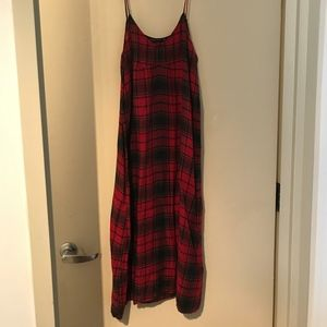 Zara Plaid Slip Dress